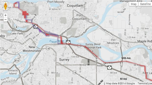 The alternative route for the Trans Mountain Pipeline passes through Surrey's Fraser Heights neighbourhood.