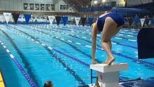 Swimmer at Aquarena swimming pool