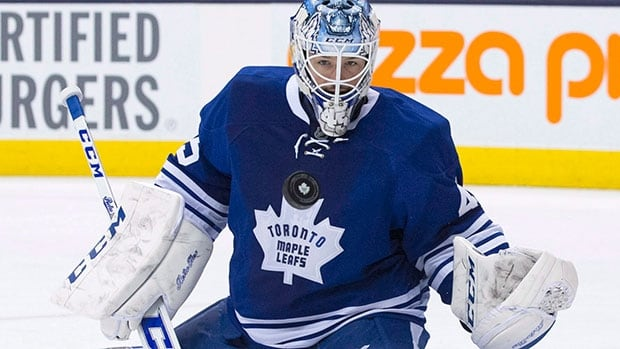Leafs goalie Jonathan Bernier went through some light work Wednesday for the first time since suffering a groin injury last week in Los Angeles.