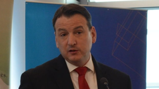 Kenora MP Greg Rickford, shown here at a January announcement at the Thunder Bay hospital, has been sworn in as the new Minister of Natural Resources.