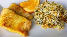 Herbed rice and fish
