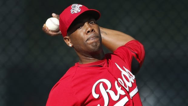 Aroldis Chapman who throws a 100 mph fastball, had walked four Royals in