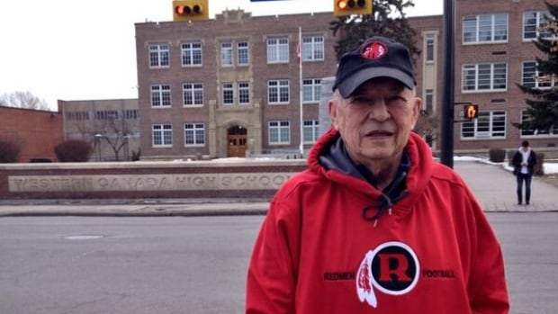 "Western Canada High School class of 1950 graduate Roger Takaoka wants his old school to keep the ""Redmen"" name."