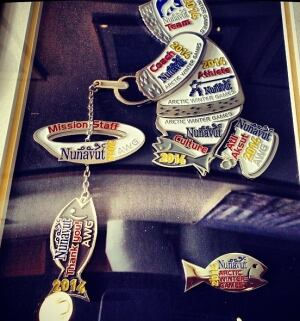 Nunavut 2014 Arctic Winter Games pins set