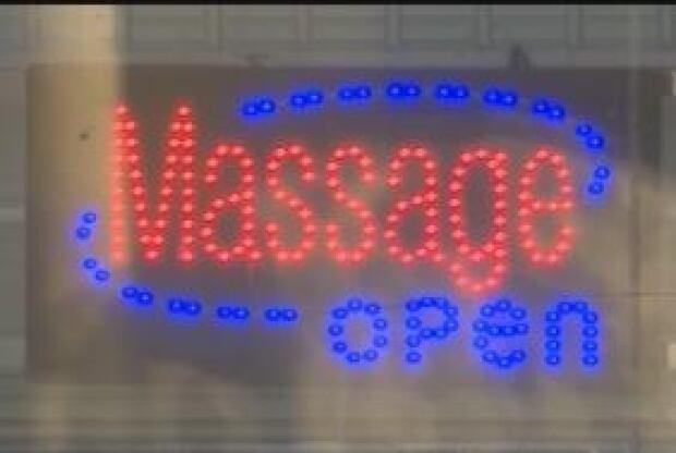 Massage parlour sign