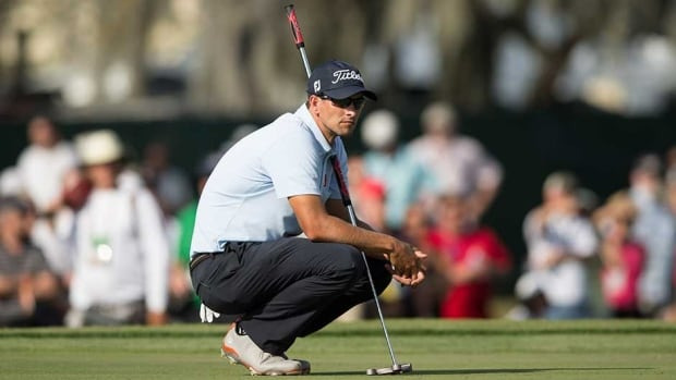 Adam Scott plans his next putt on the 15th hole during the second round of the Arnold Palmer Invitational at Bay Hill Friday in Orlando.