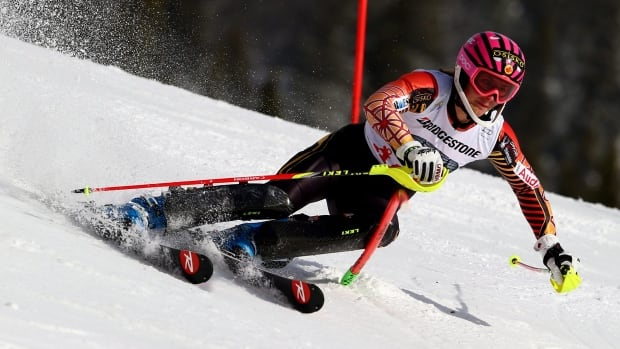 Canada's Marie-Michele Gagnon won the women's slalom title at the U.S. Alpine Championships on Saturday.