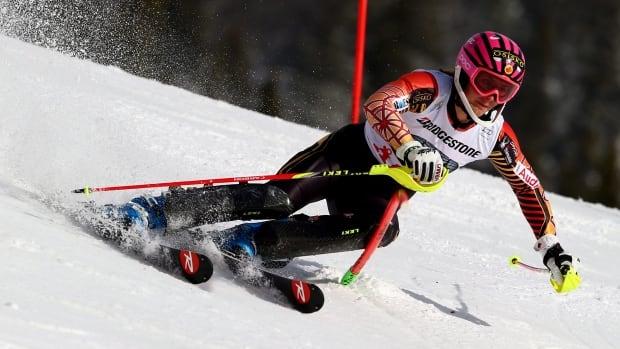 Canada's Marie-Michele Gagnon won the women's slalom title at the U.S. Alpine Championships on Saturday.