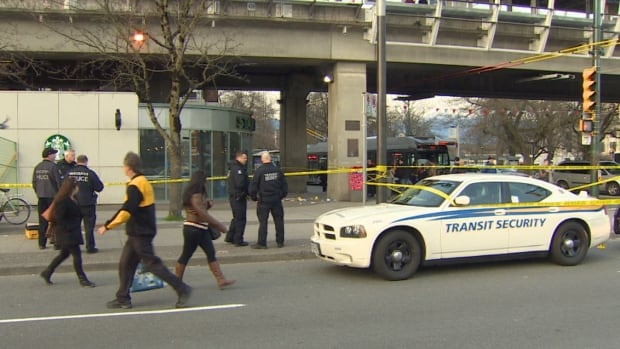 "Police are investigating a double slashing outside the Main Street-Science World SkyTrain Station. Two teenagers were taken to hospital, one of them ""Code 3,"" police said."