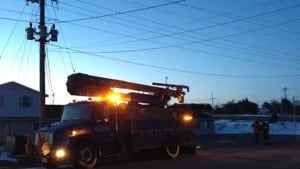 Maritime Electric fixing downed line