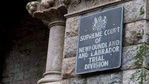 Newfoundland Labrador Supreme Court sign CBC