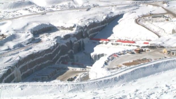 Muskrat Falls construction aeriel