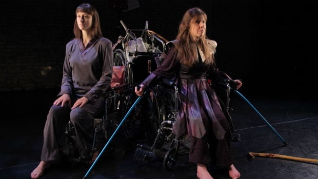 Johanna Riley of Winnipeg's Contemporary Dancers joins Debbie Patterson onstage for this very personal exploration of Patterson's struggle with multiple sclerosis.