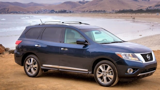The 2013 Nissan Pathfinder is one of the 60,000 SUVs, minivans and cars being recalled by Nissan in Canada over airbags that don't inflate.