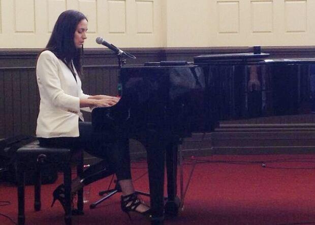 Chantal at piano