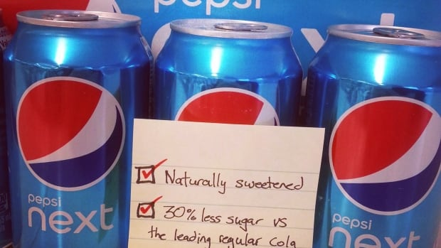 Pepsi Next is sweetened with sugar and stevia extract.