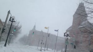 Fredericton streets nearly deserted