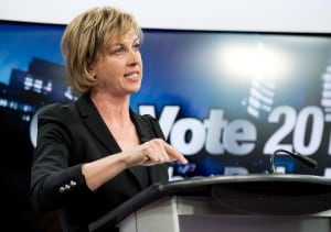Coun. Karen Stintz seen in 1st televised mayoral debate