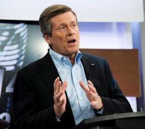 John Tory seen in 1st Toronto mayoral debate