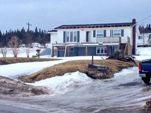 House in Norris Point lost its deck and sustained roof damage