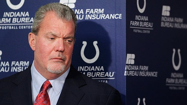 Prosecutors haven't decided whether to charge Indianapolis Colts owner Jim Irsay over the numerous prescription drugs that officers found in his vehicle. Darron Cummings/Associated Pres