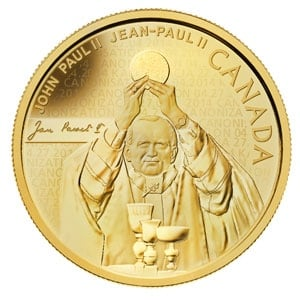 Pope John Paul II gold coin