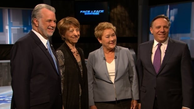 François Legault, Philippe Couillard, Pauline Marois and Françoise David have been sparring over topics ranging from social policies and governance, the economy and public finances, to identity and sovereignty.