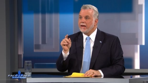 Philippe Couillard says his campaign is going well, and that's why he was the target of so many attacks in Thursday night's debate.