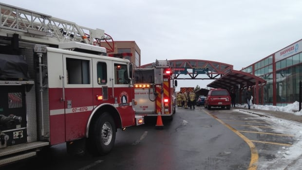 Crews from Halifax Regional Fire and Emergency at the scene of a chemical spill at the QEII Health Sciences Centre.