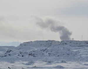 Iqaluit dump fire March 2014
