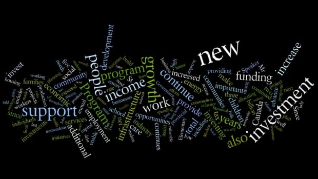 This word cloud was produced through Wordle, and shows themes that were stressed in this week's budget speech.