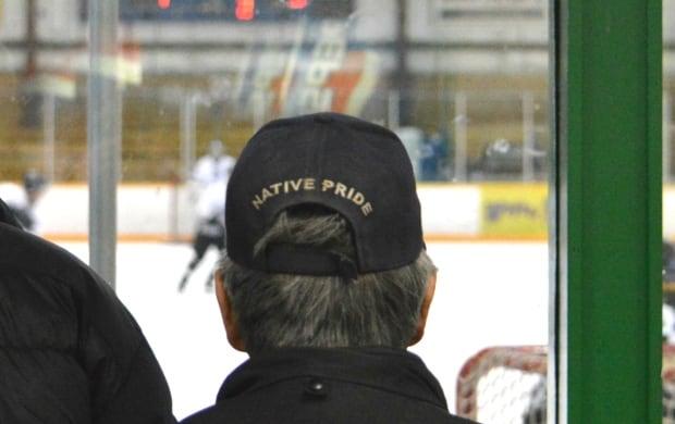 Fan at Northern Yukon Native Hockey Tournament