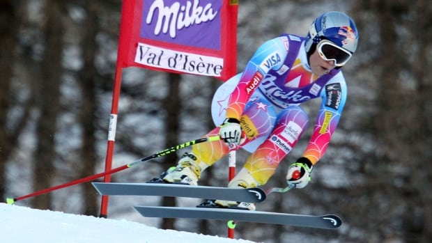 American skier Lindsey Vonn says rehab on her surgically repaired knee is 'slow going.'