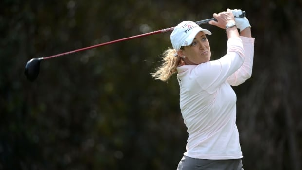 Cristie Kerr tees off the 5th hole during the third round of the KIA Classic on Saturday.