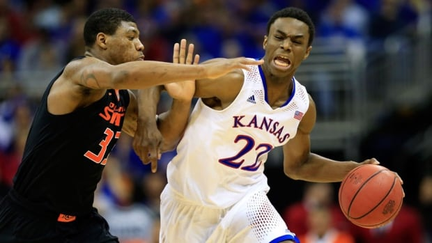 Andrew Wiggins led Kansas in scoring at 17.1 points per game and averaged 5.9 rebounds.