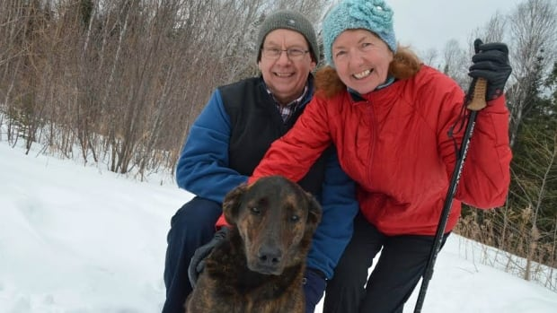 Jim and Margie Loppacher walk their dog, Zoe, along the trails behind Lakehead Psychiatric Hospital nearly every day.