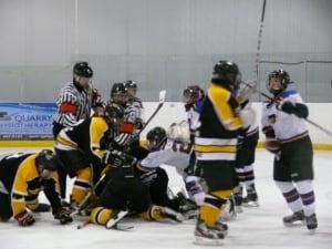 Stonewall hockey fight