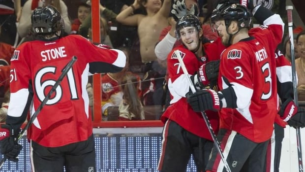 Ottawa Senators centre Kyle Turris (7) had four goals and three assists over the four-game stretch.