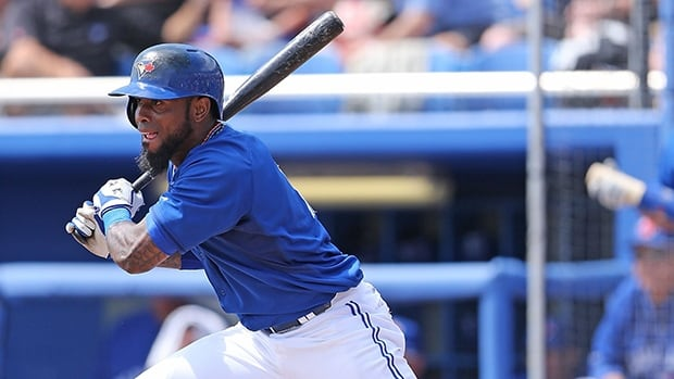 Blue Jays star shortstop Jose Reyes, shown in this file photo, couldn't make it out of the first inning of his team's first regular season game, going down with a hamstring injury.