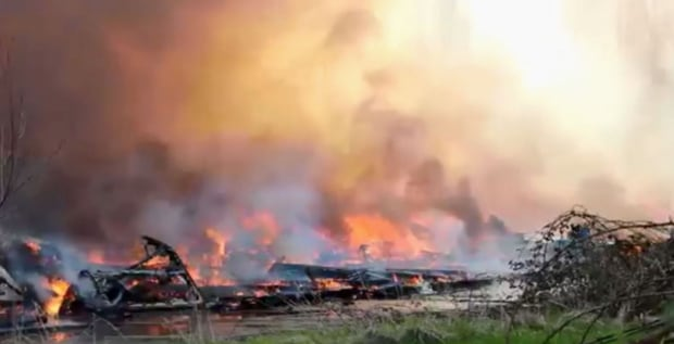 Surrey carn burned to ground