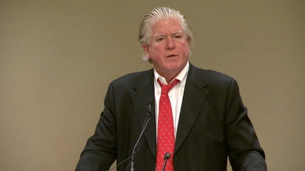 Calgary Flames President of Hockey Operations Brian Burke spoke at a fundraiser on Tuesday for the Calgary Sexual Health Centre about the need to erase homophobia from sports locker rooms.