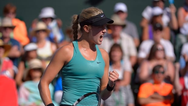 Eugenie Bouchard, seen in a match in March, came into this week ranked 20th in the world.
