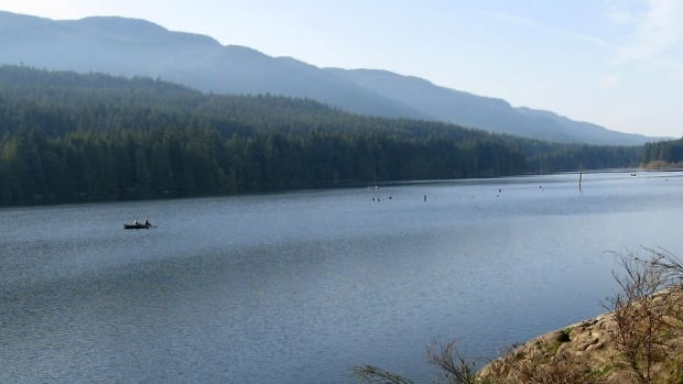 Westwood Lake, Nanaimo B.C. where one man died in a fishing accident after his boat capsized Tuesday afternoon.