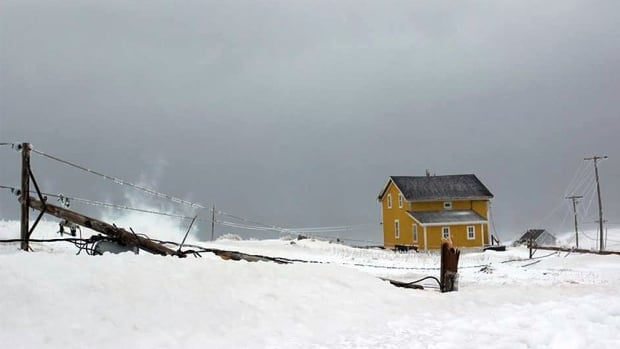 Maureen Capper on Quebec's Magdalen Islands snapped this photo of downed power lines. Around 1,700 people there have been without power since Sunday night.