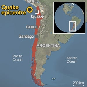 chile locator map