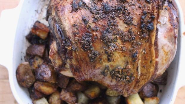 Roast Leg of Lamb with Mint Sauce