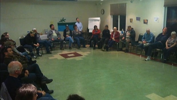 About 40 people attended a sharing circle on Monday to talk about Labrador having more control over its resources and services.