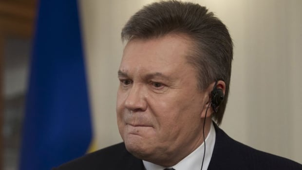Ousted Ukrainian President Viktor Yanukovych speaks with The Associated Press in Russia on April 2, 2014. Yanukovych says the annexation of Crimea was a tragedy and he would have done everything possible to prevent it, had he remained in power.