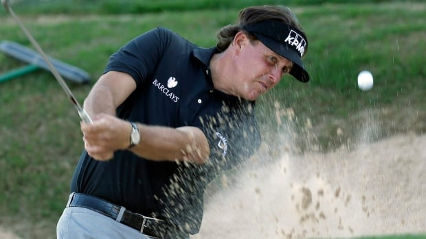 "Phil Mickelson said he ""felt sore as opposed to hurting"" while committing to play in this week's Houston Open ahead of the Masters. He recently pulled a muscle in his right side."