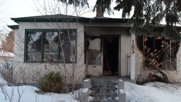 A fire at this home on Mary Street E. in Thunder Bay sent a man to hospital Thursday morning.
